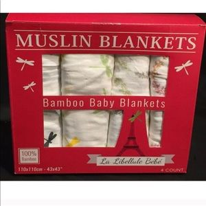 Dragonfly Bamboo Muslin Baby Blankets 4 Pack